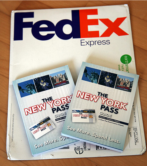 New York Pass arrived